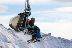 Ski piste lift Royalty Free Stock Photo