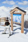 Ski piste map Stock Photography