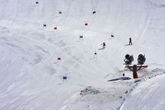 Ski piste, Molltaler Glacier, Carinthia, Austria Royalty Free Stock Images