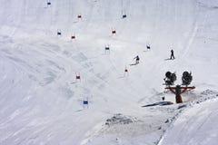 Ski piste, Molltaler-Gletsjer, Carinthia, Oostenrijk Royalty-vrije Stock Afbeeldingen