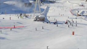 Ski Piste stock video footage