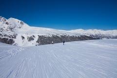 Ski piste in Pyrenees mountains Royalty Free Stock Photo