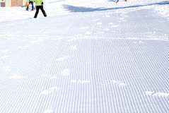 Ski piste ready for skiers Royalty Free Stock Images