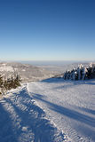 Ski piste on the Skrzyczne mountain Stock Photos