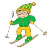 Ski player Stock Photography