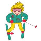 Ski player Royalty Free Stock Photos
