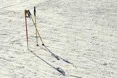 Ski poles Royalty Free Stock Images