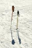 Ski poles Stock Photography