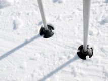 Ski poles Royalty Free Stock Photos