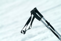 Ski poles. On the track Royalty Free Stock Images
