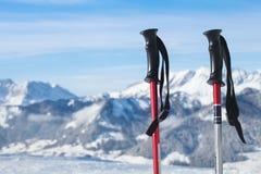 Ski Poles immagine stock