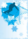 Ski poster Royalty Free Stock Photo
