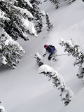 Ski powder. Brian having another deep powder day in utah's backcountry Royalty Free Stock Images
