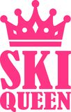 Ski Queen. Vector sports icon Stock Photos