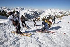 Ski race check point royalty free stock photo