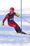 Ski Racer. At the slalom course. Photo taken at Pontiac Cup - major North American Ski competition in 2008 Stock Photo