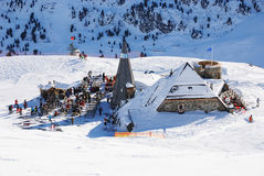 Ski recreational area. A view on ski recreational area. Austria, Mayrhofen Royalty Free Stock Photography