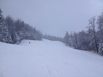 Ski recreations. Winter sport environment on mountain bjelasnica, sarajevo, bosnia and herzegovina Royalty Free Stock Photography