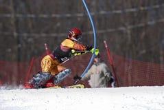Ski-Rennläufer Lizenzfreies Stockfoto