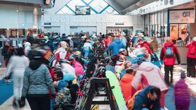 Ski rental stock footage