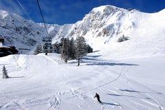 Ski resort. Sunny powder day in a Utah ski resort Stock Image