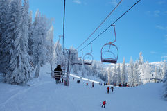 Ski resort. Early in the morning Stock Image