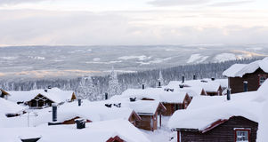Ski resort. View from a skiing resort Stock Image