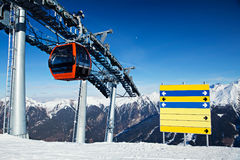 Ski resort Royalty Free Stock Photo