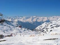 Ski resort. Seen overall of a holiday ski resort Royalty Free Stock Photos