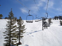 Ski Resort. Ski Lift at Mt Rose Ski Resort, Lake Tahoe, California Stock Photo