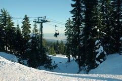 Ski Resort. A chairlift at a ski resort Stock Photo