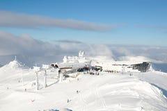 Ski resort. The final station ski lift Royalty Free Stock Image