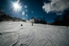At the ski resort. Sunny day at the north carolina skiing resort Royalty Free Stock Photos