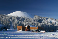 Ski Resort. Mount Bachelor ski resort in Oregon Royalty Free Stock Photo