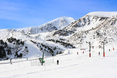Ski resort. On a sunny winter day Stock Images