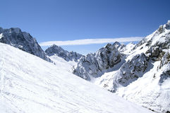 Ski resort. Caucasus Mountains. Dombaj. Ski resort Royalty Free Stock Photo