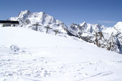 Ski resort. Caucasus Mountains. Dombaj. Ski resort Royalty Free Stock Photography
