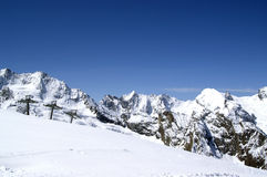 Ski resort. Caucasus Mountains. Dombaj. Ski resort Stock Images