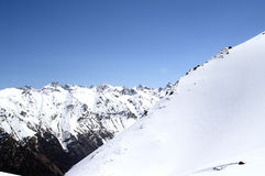 Ski resort. Caucasus Mountains. Dombaj. Ski resort Stock Image
