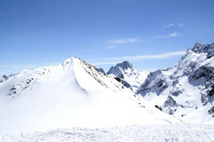Ski resort. Caucasus Mountains. Dombaj Stock Photos