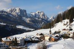 Ski resort. Snow range mountain in Dolomite Royalty Free Stock Photography