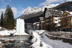 Ski resort. In Dolomite,Italy Stock Photo