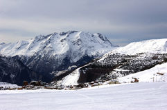 Ski resort of Alpe d'Huez . Stock Photos