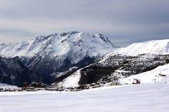 Ski resort of Alpe d'Huez . Stock Photos