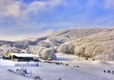 Ski Resort at Alpes. Stock Photo