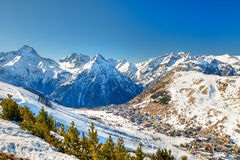 Ski resort in Alps Stock Photos