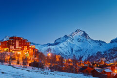 Ski resort in Alps Stock Image