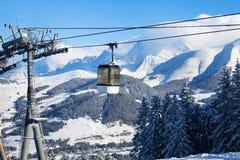 Ski resort in Alps. France Royalty Free Stock Image