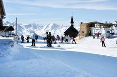 Ski resort in the Alps Stock Image