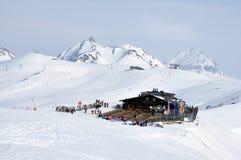 Ski resort in the Alps Stock Photos